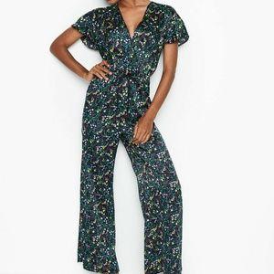 Victoria's Secret L Jumpsuit Romper Pajama's Satin